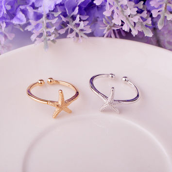 Jewelry Gift New Arrival Shiny Hot Sale Simple Design Stylish Sea Adjustable Accessory Ring [4915699908]