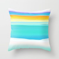 The Arctic Sea Abstract 2 Throw Pillow by Jen Warmuth Art And Design