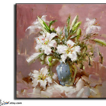 Large Oil Painting, Flower Oil Painting, Abstract Art, Still Life Art Canvas Art Handmade Oil Painting.