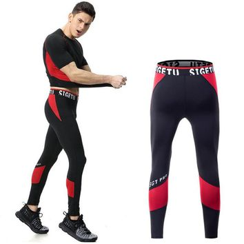 New Compression Pants Running Tights Men Jogging Leggings Fitness Gym Clothing Yoga Leggings Men Sportswear Long Trousers