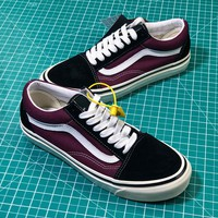 Vans Anaheim Old Skool 36 Dx Red Black White Shoes - Best Online Sale