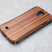 Samsung Galaxy S4 case , wooden Samsung Galaxy S4 Case/ Samsung i9500 Case , Real Wood, Plain, wood, Color stitching, gift pack available