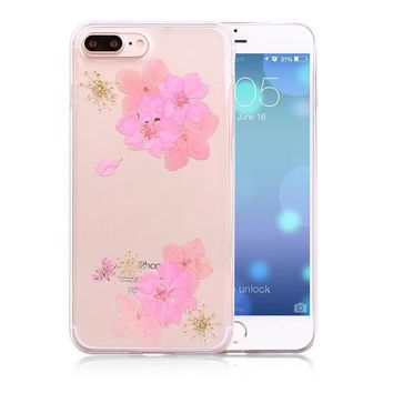 100 handmade pressed flower case real dried flowers phone case limited cover for iphone 7 7plus iphone se 5s 6 6 plus gift box 263  number 1