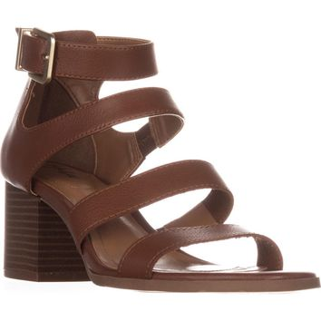 SC35 Naomii Strappy Heeled Sandals, Umber, 10 US