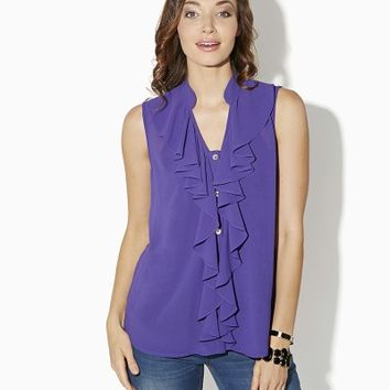 Frill Me Tank   Tops   charming charlie