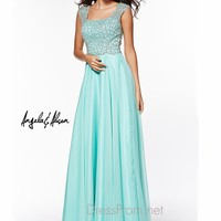 Square Neckline Angela & Alison Formal Prom Gown 51050