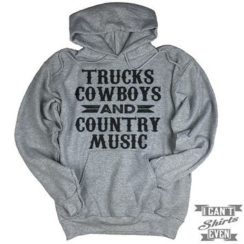 Trucks Cowboys And Country Music Hoodie.