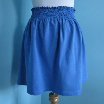 Womens or Teens Sweet Little Elastic Waist Cotton Knit Skirt