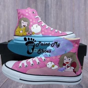 bee and puppycat converse hand painted shoes anime shoes free shipping in the us