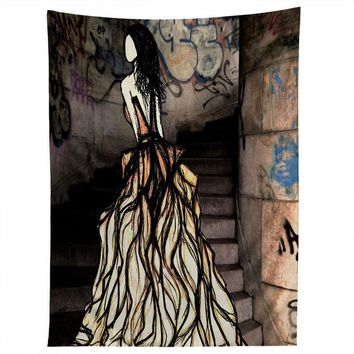 Escape fashion illustration tapestry