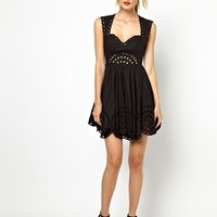 Alice McCall Tigers Eye Dress with Cut Out Detail