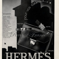 Art Deco Vintage French Ad for Hermes Accessories 1931