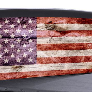 Distressed American Flag Universal Truck Rear Window 50/50 Perforated Vinyl