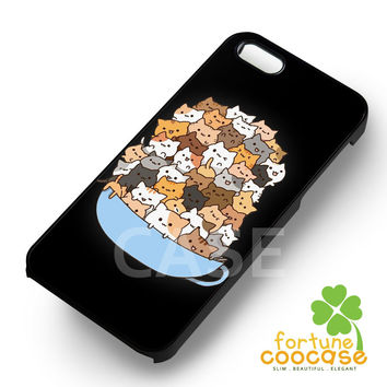 because animal cute cats-yah for iPhone 6S case, iPhone 5s case, iPhone 6 case, iPhone 4S, Samsung S6 Edge