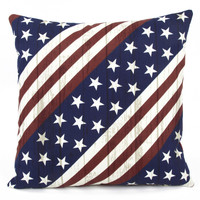 American Freedom Outdoor Throw Pillow