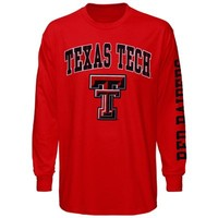Texas Tech Red Raiders Big Arch & Logo Long Sleeve T-Shirt - Red