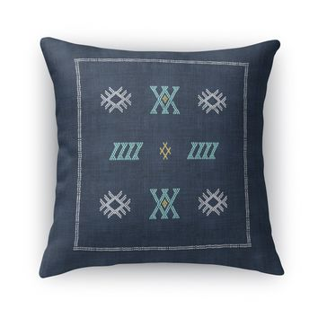 CASABLANCA KILIM NAVY Accent Pillow By Becky Bailey