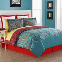 Fiesta® Terra Reversible Comforter Set in Blue