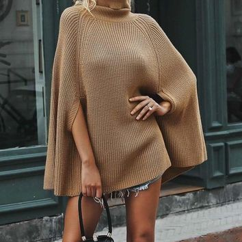 Cecilia Winged Turtleneck Sweater