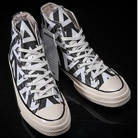 CONVERSE black high classic men and women leisure shoes-1