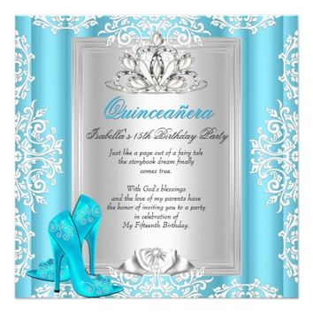 Quinceanera 15th Birthday Party Blue Shoes 5