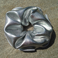 Space Silver Scrunchie