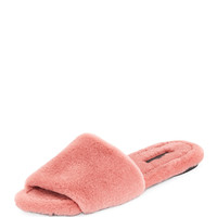THE ROW Ellen Mink Fur Slide Sandal