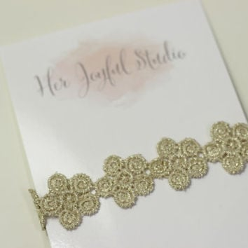 adult lace headband - flower crown - baby lace headband - newborn lace headband - lace headband wedding - gold headband