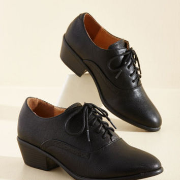 Engineer to the Mark Heel in Black | Mod Retro Vintage Heels | ModCloth.com