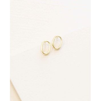 Simple Oval Outline Studs