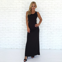 Shainnon Maxi Dress In Black By SKY