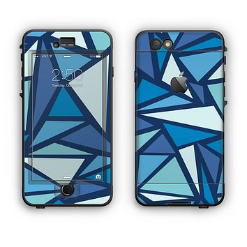 The Large Vector Shards of Blue Apple iPhone 6 Plus LifeProof Nuud Case Skin Set