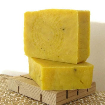 Crushed Ginger Soap - Vegan Friendly Handmade Hot Process Bar - Delicate by Nature