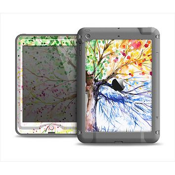 The WaterColor Vivid Tree Apple iPad Air LifeProof Nuud Case Skin Set