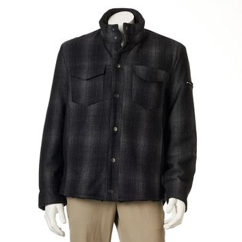 Excelled Plaid Wool-Blend Shirt Jacket