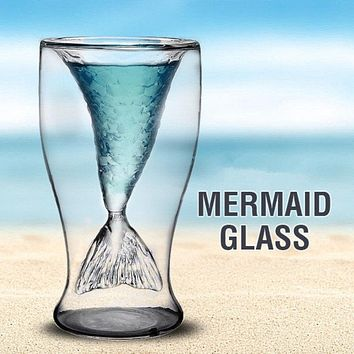 Double Wall Mermaid Glass