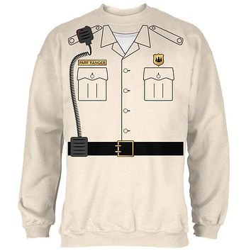 Halloween Forest Park Ranger Costume Mens Sweatshirt