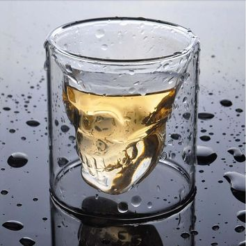 New to the free shipping Transparent Crystal Skull Head Shot Glass Cup For Whiskey Wine Vodka Bar Club Home Drinking Ware