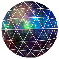 Terry Fan Space Geodesic Circle Print