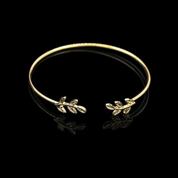 Jewelry Stainless Steel Bracelets For Women Simple gold Leaf Bff Bracelet Bridesmaids Gifts Pulseras Cute Armbanden