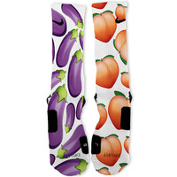Eggplant And Peaches Custom Nike Elite Socks