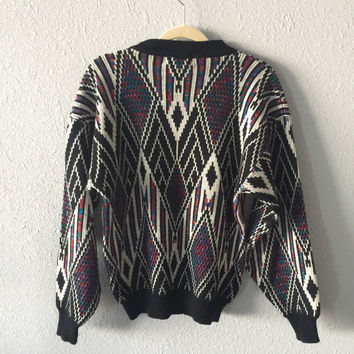 1980's Men's Southwestern Sweater By McGregor