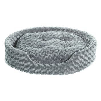Furhaven Pet Nap Pet Bed Deluxe Egg-Crate Orthopedic Mat Pet Bed Dog Bed Gray XL
