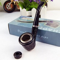 Durable Multifunction Pipe Smooth Chimney Double Filtration Smoking Pipes Herb Tobacco Pipes Gifts Narguile Weed Grinder Smoke