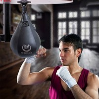 Punching Boxing Speed Ball Punch Bag  Exercise Body Building Fitness Leather SpeedBalls Training Ball Sports Supplies Black TK0772