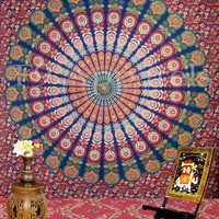Indian  Mandala Tapestry,hippie Hippy Wall Hanging Tapestry,bed Cover, Bed Spread, Wall Art,beach Coverlet Throw, Decorated Throw,curtain