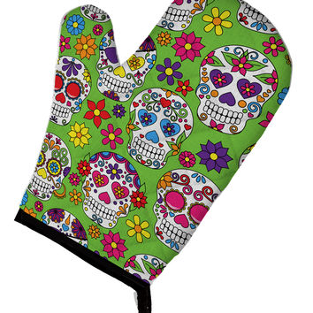 Day of the Dead Green Oven Mitt BB5117OVMT