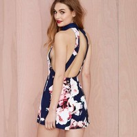Loyally Elegant Floral Print Rompers