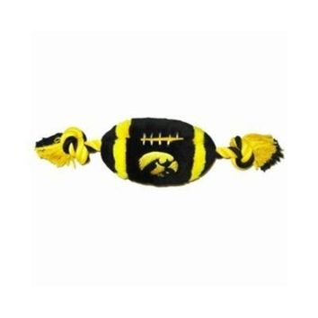 ONETOW Iowa Hawkeyes Plush Football Dog Toy