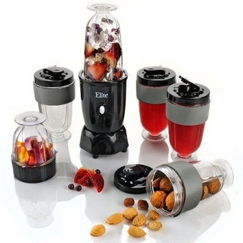 17 Piece Elite 300-Watt Personal Drink Blender Set By Maximatic